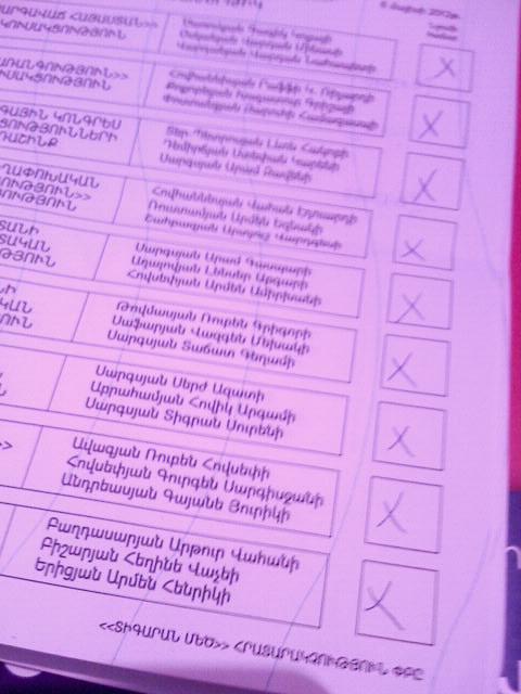 Բոլորին դեմ «քվեարկված» քվեաթերթիկ