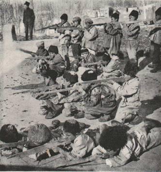 Ոտքով Արտեմիդից Վան հասած կամավոր տղաների ջոկատի մի մասը, ՀայաստանՁմեռվա ձյան միջով նրանք եկել էին՝ հայ նահանգապետից իսկական հրացաններ խնդրելու, որոնցով կարող էին պաշտպանել իրենց տները: Տղաներից ամենաավագը 12 տարեկան էր: Նրանք ինքնուս էին և վեց մղոնանոց ճանապարհն անցել էին առանց Արտեմիդի պահակախմբի թույլտվության կամ իմացության:
