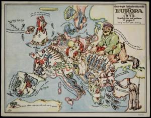 Եվրոպա, ծաղրանկար քարտեզ , 1915թ