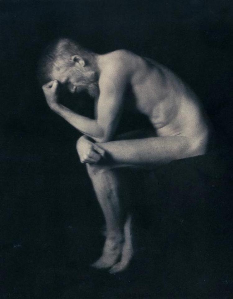 Բերնարդ Շոուն որպես Ռոդենի «Մտածողը» (1906)